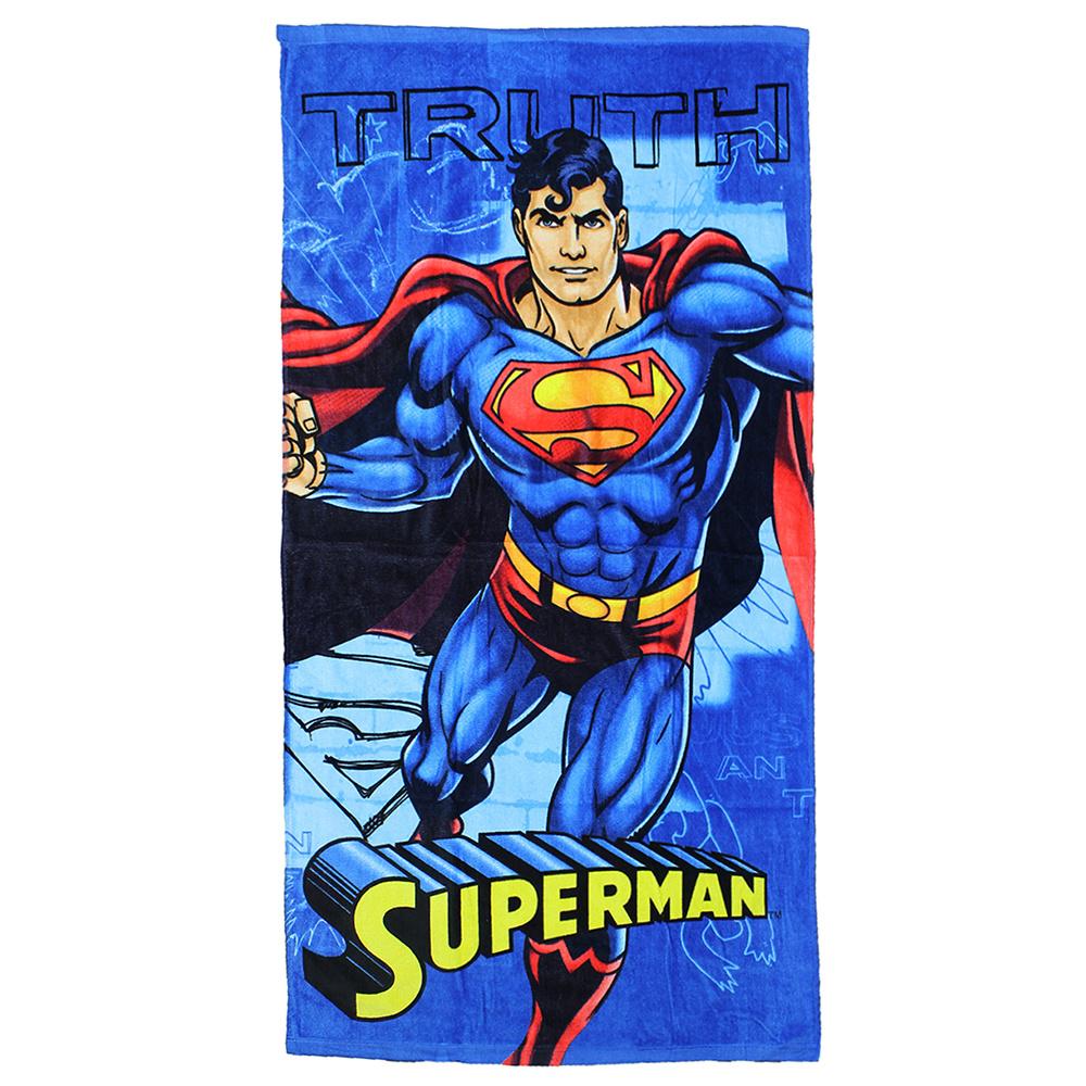 Superman DC Comics Superman Truth Badlaken Strandlaken Blauw