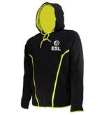 ESL Electronic Sports League ESL E-Sports TEQ Vest Jas Hoodie met Rits en Capuchon Zwart/Wit/Geel