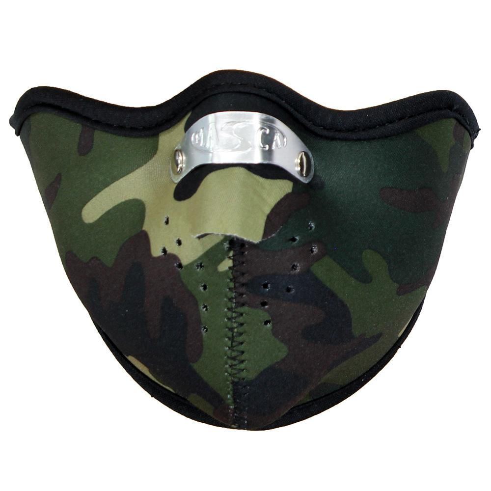 Facemasks Biker Mondkap Facemask Skimasker Camouflage Camo Groen