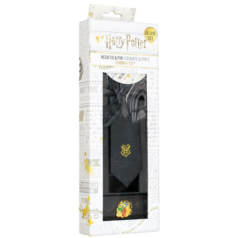 Harry Potter Harry Potter Hogwarts Deluxe Necktie Stropdas inclusief Luxe Dasspeld Zwart