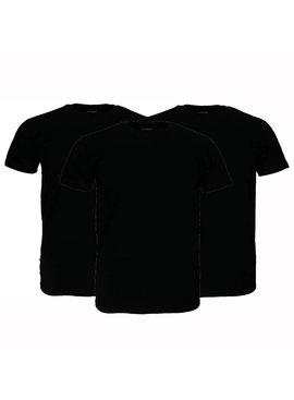 Basics Fruit Of The Loom  Blanco Katoenen T-Shirts 3 stuks pakket Zwart
