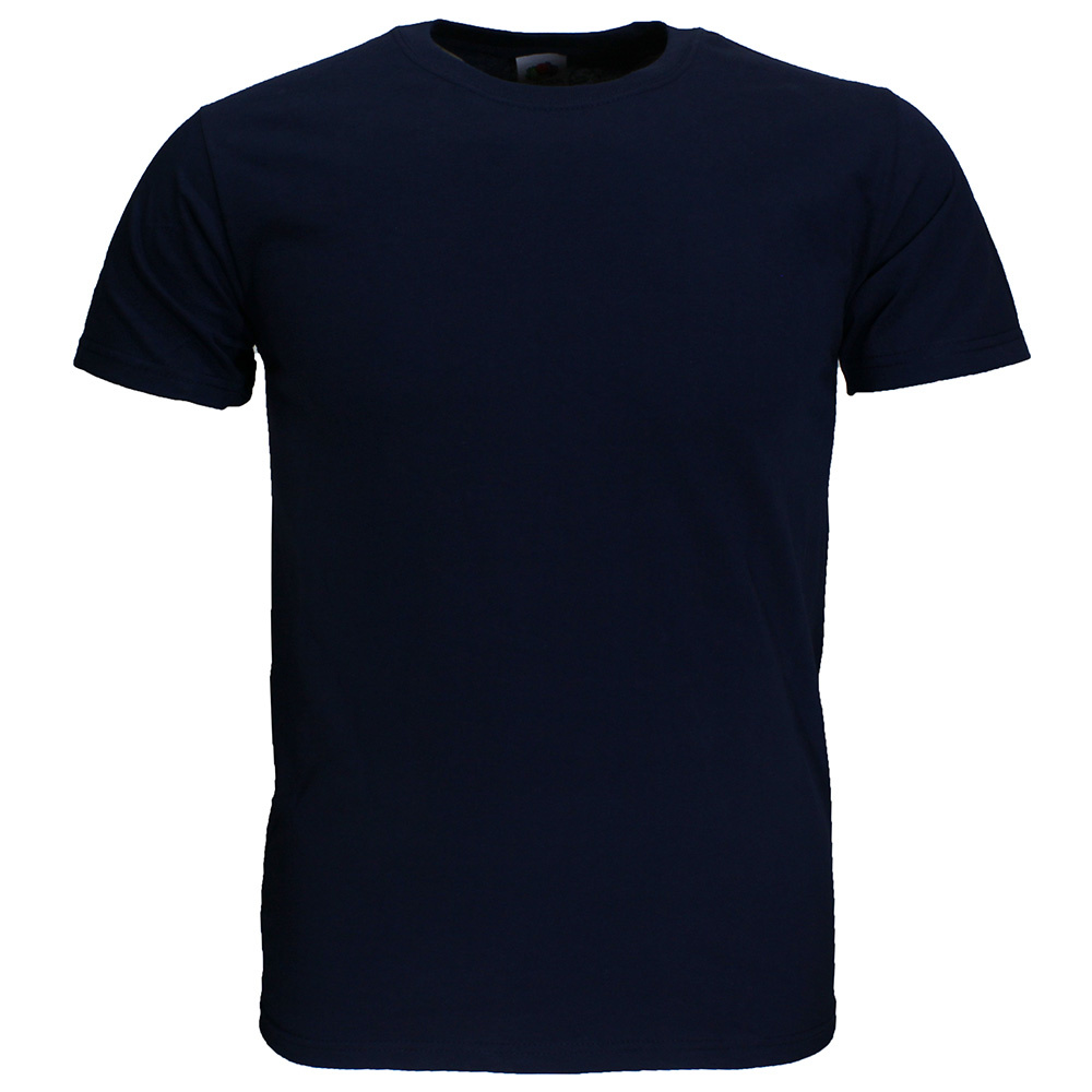 Basics Fruit Of The Loom Plain Basic Cotton T-Shirts 3 Pieces Package Dark Blue