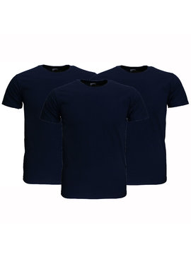 Basics Fruit Of The Loom Plain Basic Cotton T-Shirts 3 Pieces Package Dark Blue