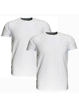 Basics Fruit Of The Loom EXTRA GROTE MATEN Blanco Katoenen T-Shirts 2 stuks pakket Wit