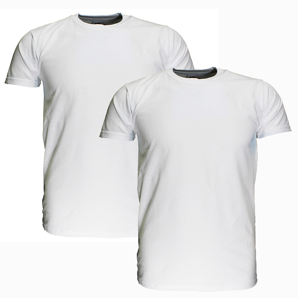 Basics Fruit Of The Loom  Blanco Katoenen T-Shirts 2 stuks pakket Wit EXTRA GROOT