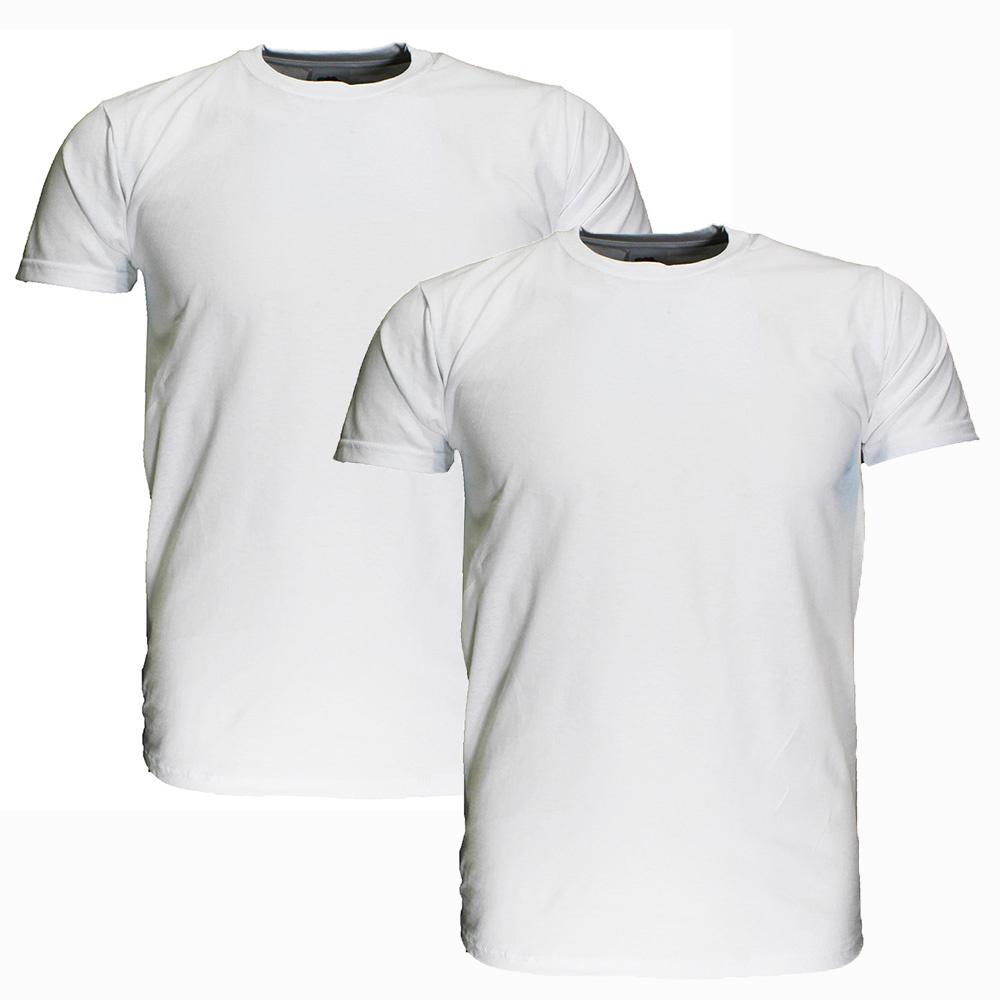Basics Fruit Of The Loom EXTRA BIG SIZE Plain Basic Cotton T-Shirts 2 Pieces Package White