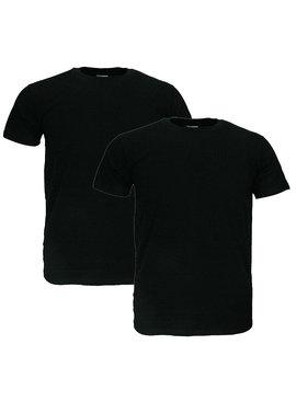 Basics Fruit Of The Loom EXTRA GROTE MATEN Blanco Katoenen T-Shirts 2 stuks pakket Zwart