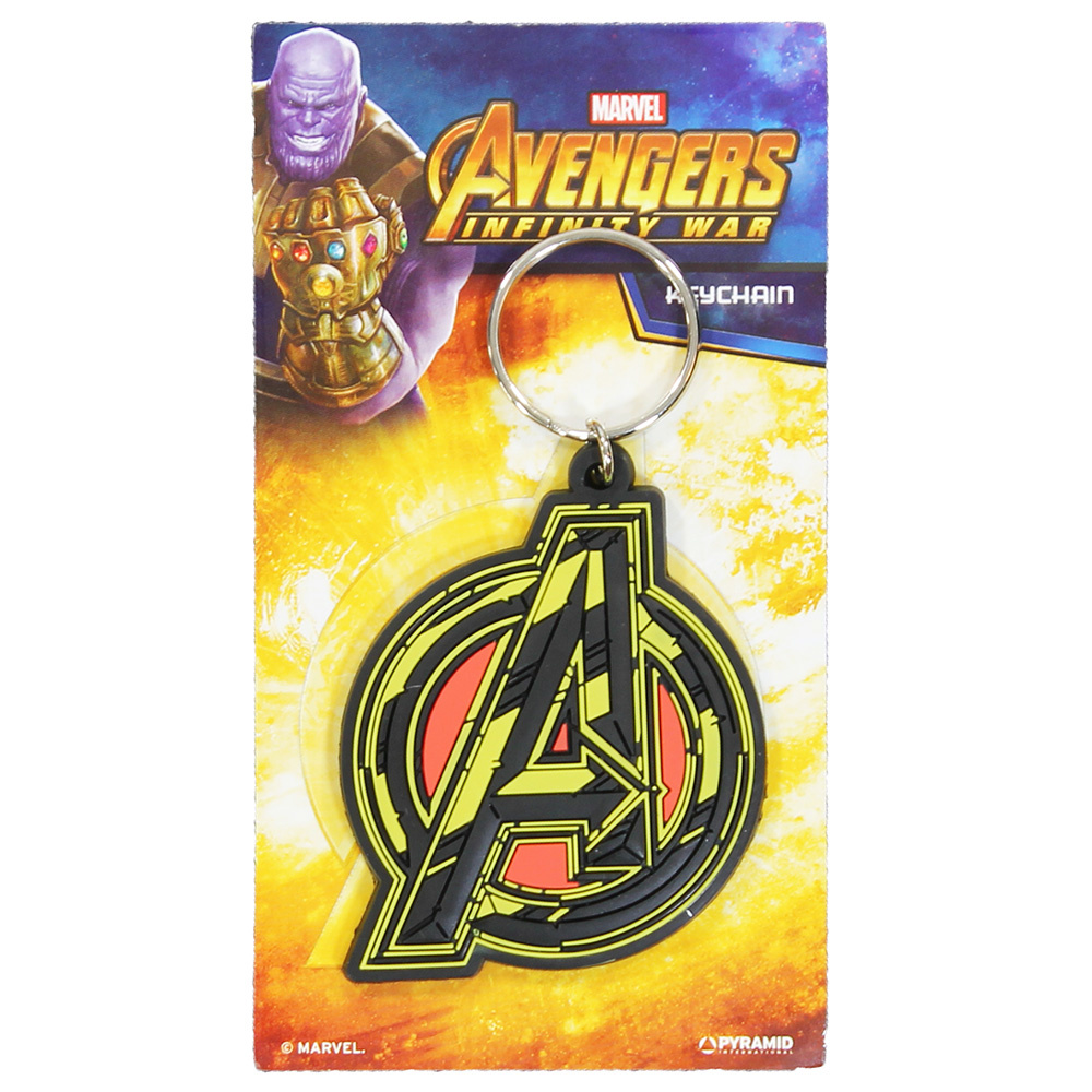 The Avengers Marvel Comics Avengers Infinity War Rubber Keychain