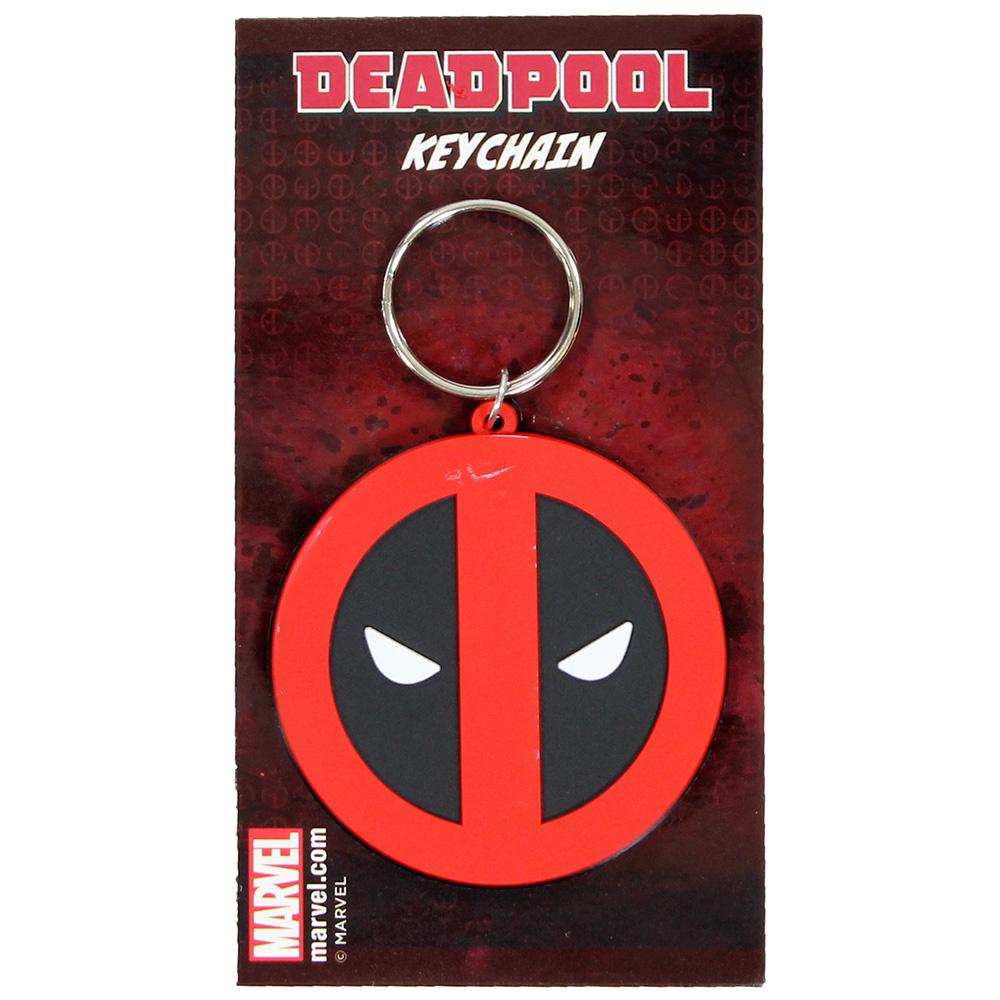 Deadpool Marvel Comics Deadpool Rubber Keychain Black / Red