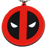 Marvel Comics: The Avengers, Captain America, Spider-Man, The Hulk, Thor, Black Panther, Deadpool, Ant-Man, Iron Man, The Punisher Marvel Comics Deadpool Rubber Keychain Black / Red