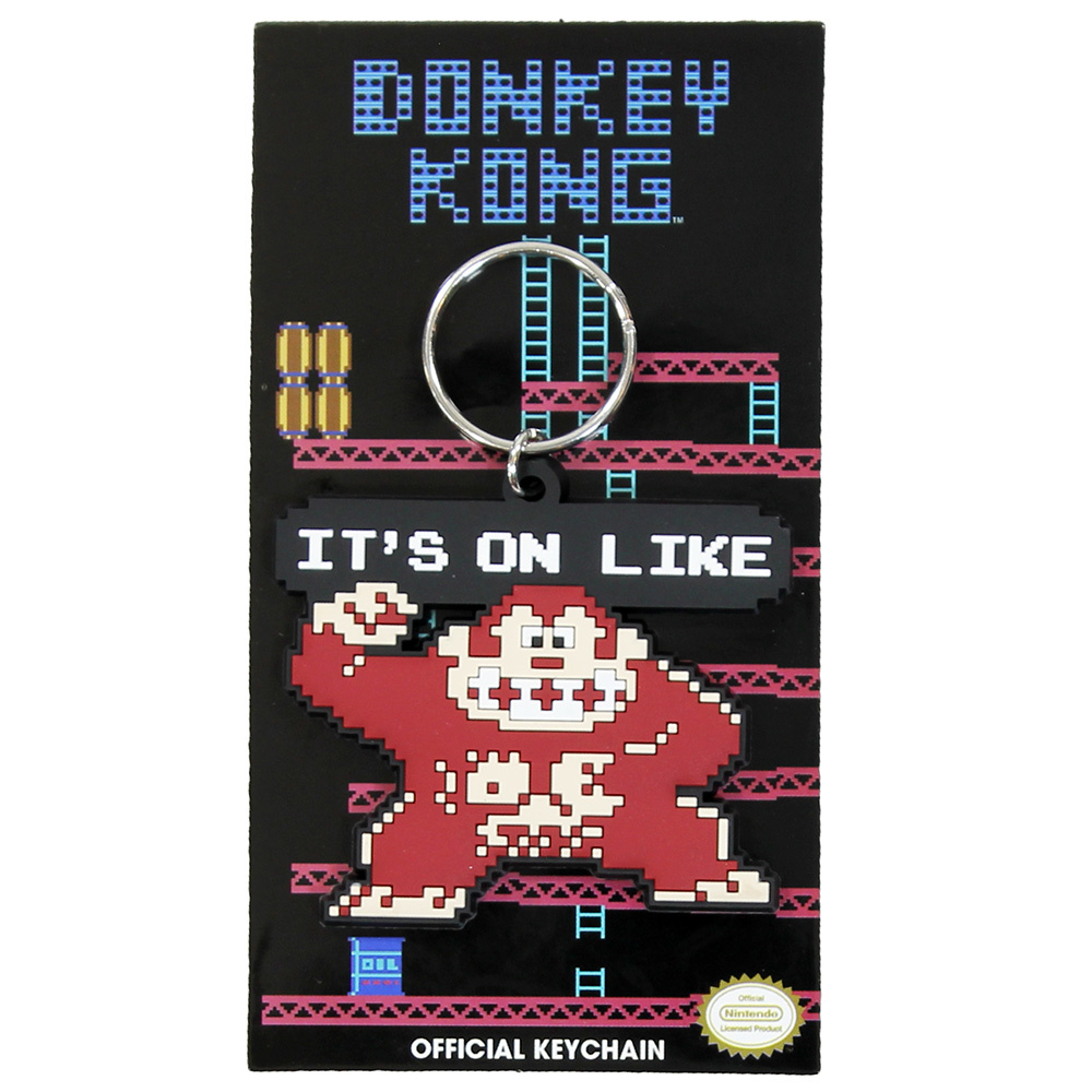 Donkey Kong Nintendo Donkey Kong It's on like Official Keychain Brown