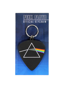 Band Merchandise Pink Floyd The Dark Side of the Moon Guitar Pick Rubber Keychain