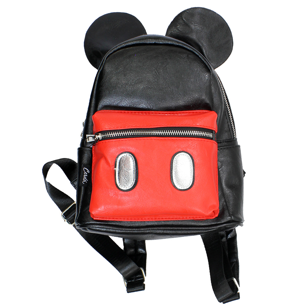 Mickey Mouse Disney Mickey Mouse Outfit Backpack Rugtas Zwart Rood