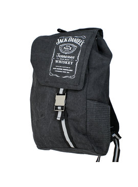 Jack Daniel's Jack Daniel's Tennessee Whiskey Bottle Logo Canvas Backpack Rugtas