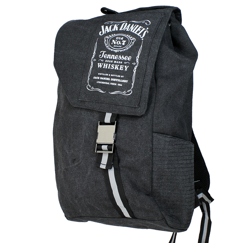 Jack Daniel's Jack Daniel's Tennessee Whiskey Bottle Logo Canvas Backpack Rugtas Grijs
