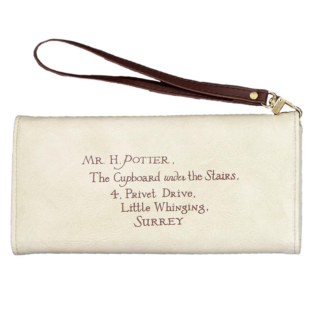 Harry Potter Harry Potter Letter Brieven Portemonnee Wallet Wit Leer