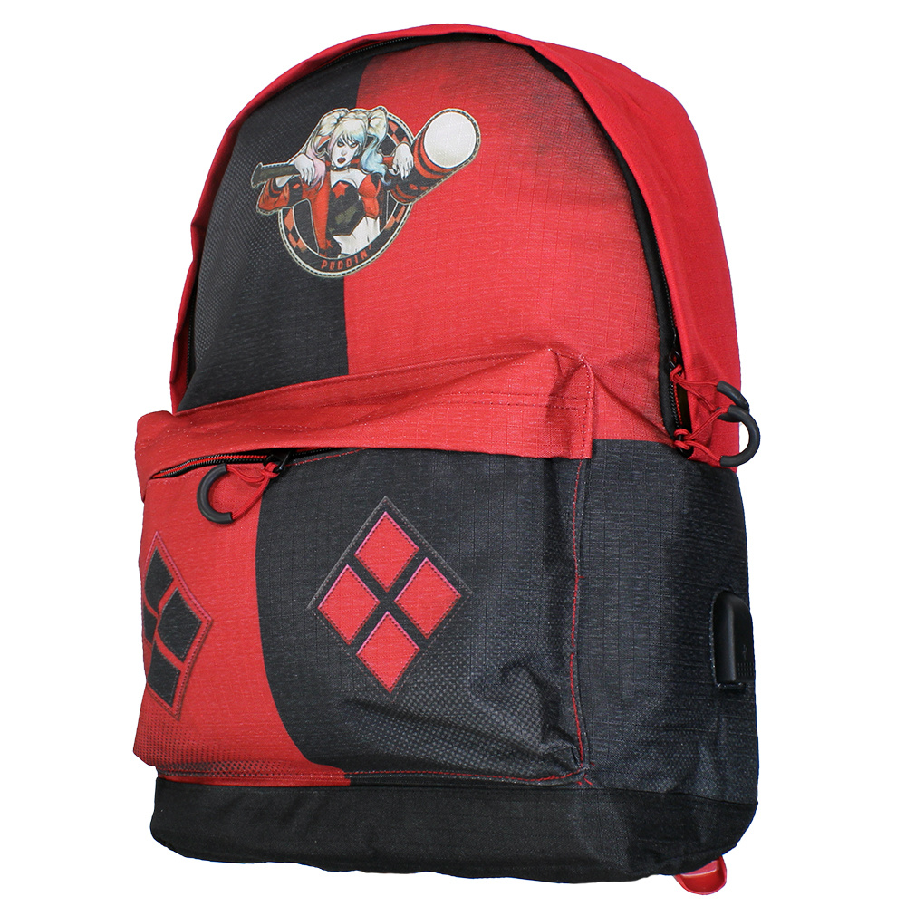 Harley Quinn DC Comics Suicide Squad Harley Quinn Adaptable Backpack Red / Black