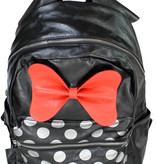 Minnie Mouse Disney Minnie Mouse Dots & Hair Bow Backpack Rugtas Zwart / Rood / Wit