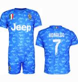 Voetbal Kleding / Football Clothing Juventus Replica Cristiano Ronaldo CR7 Alternative 3rd Kit Football T-Shirt + Shorts Set Blue