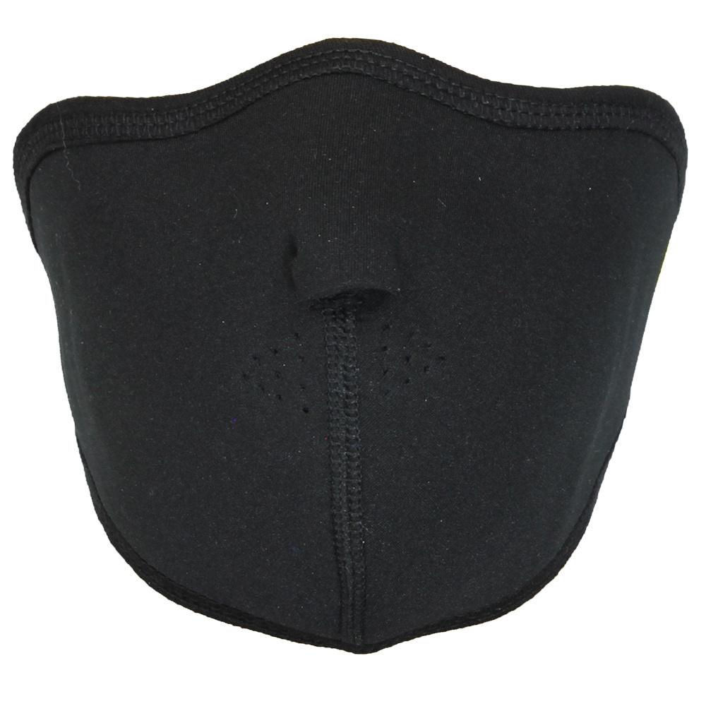 Facemasks Biker Mondkap Facemask Skimasker met Filter Zwart