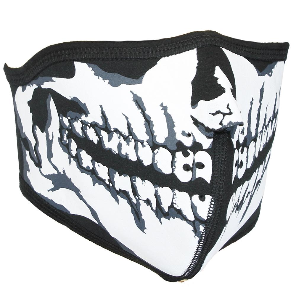 Facemasks Biker Facemask Skimask Skull Print with Filter Black / White