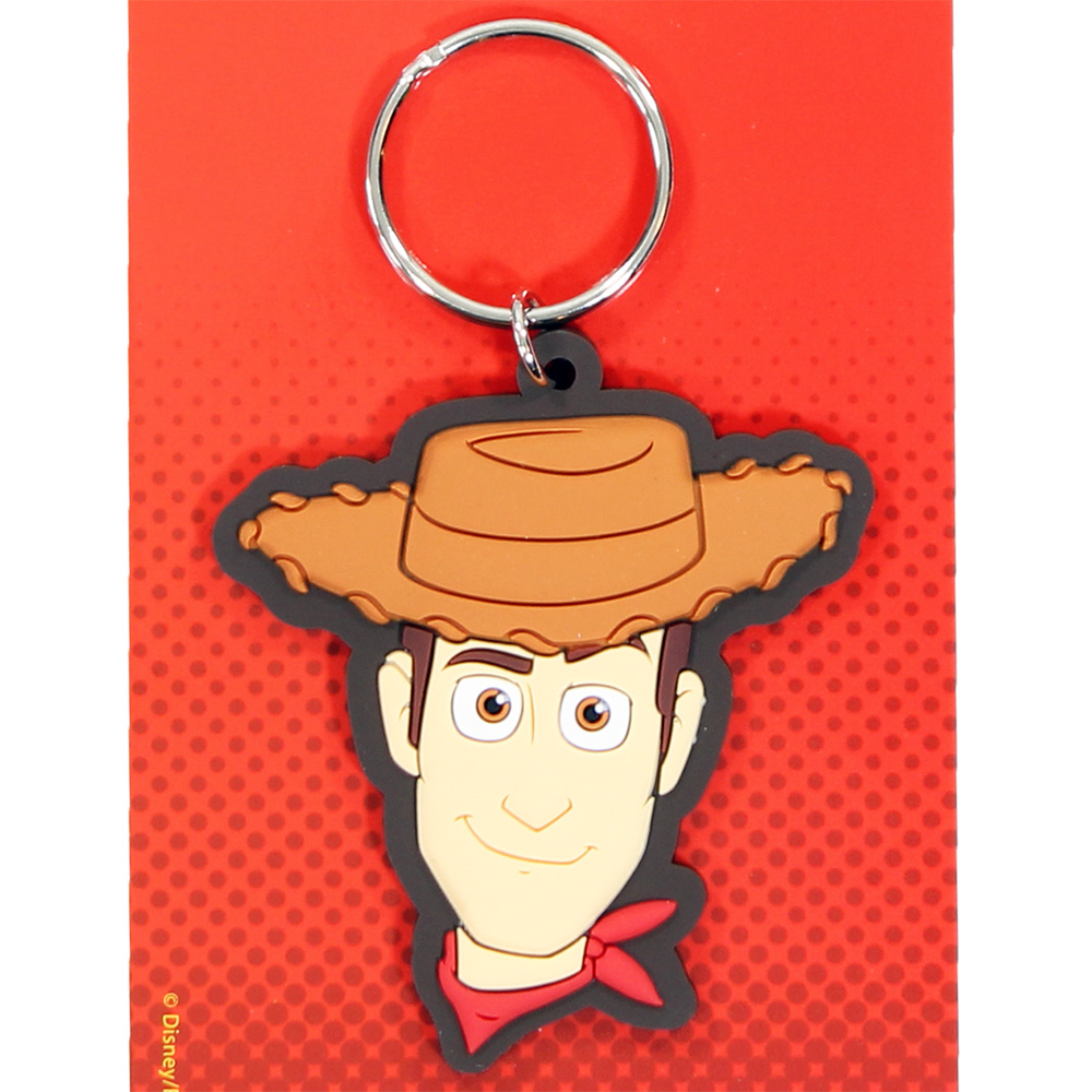 Toy Story Disney Pixar Toy Story Woody Rubberen Sleutelhanger Keychain Multicolor