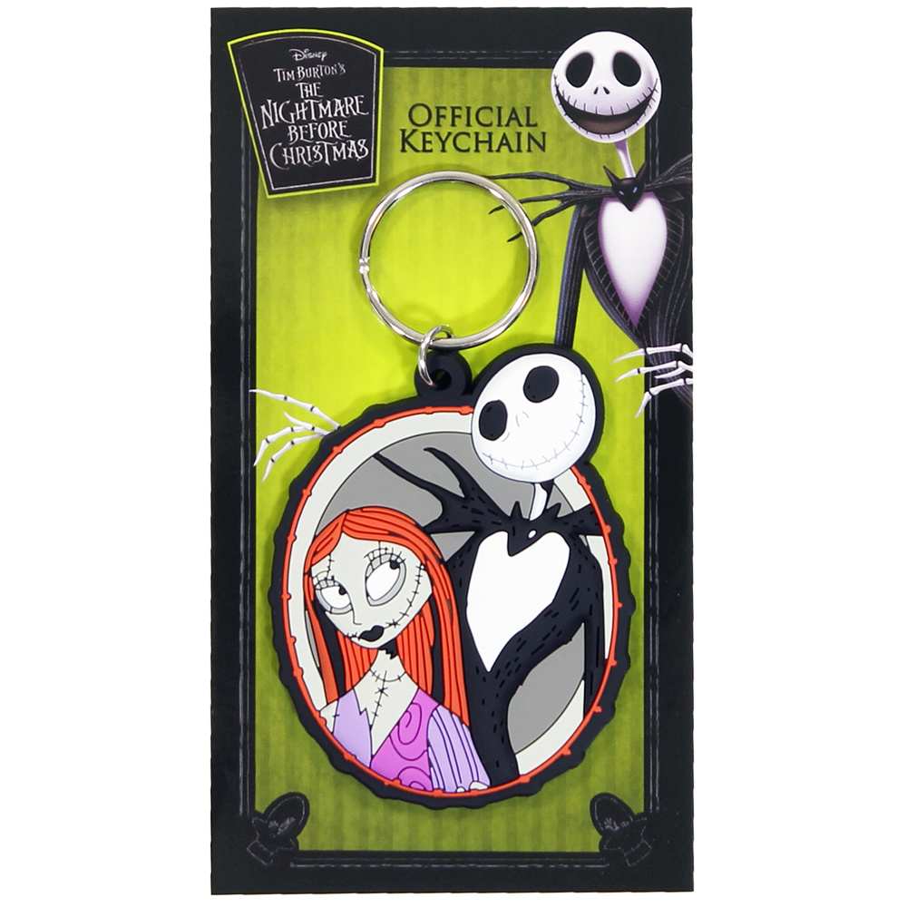 The Nightmare Before Christmas Disney The Nightmare Before Christmas Jack & Sally Keychain Multicolor