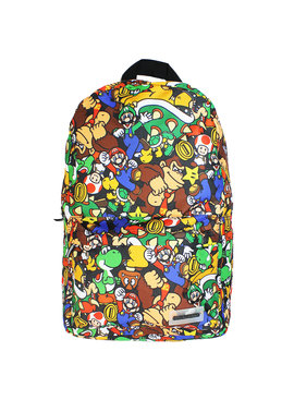 Super Mario Bros Nintendo Super Mario Bros Characters All Over Print Backpack