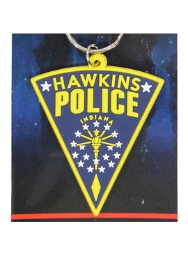 Stranger Things Netflix Stranger Things Hawkins Police Rubber Keychain