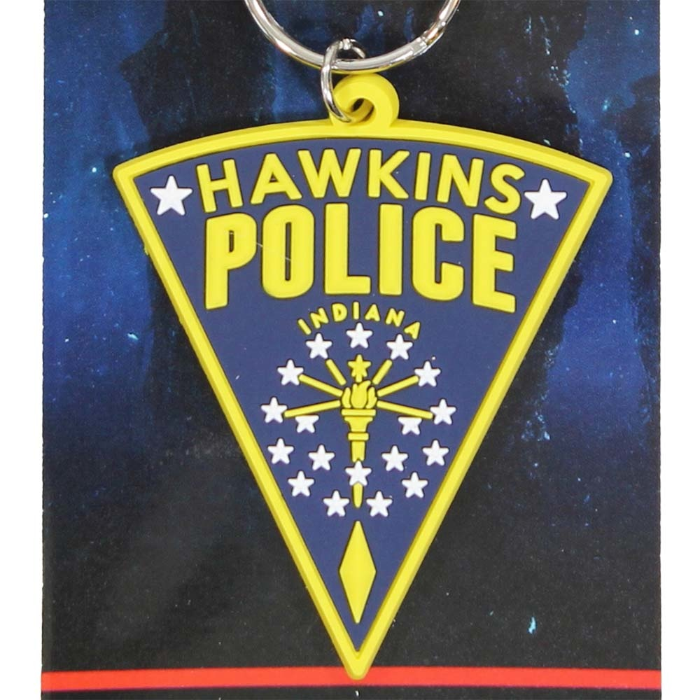 Stranger Things Netflix Stranger Things Hawkins Police Rubber Keychain Multicolor