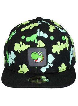Super Mario Bros Nintendo Super Mario Bros Yoshi All Over Print Snapback Cap