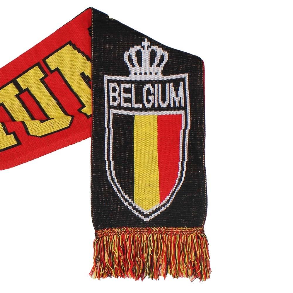 Fun & Fashion België Gebreide Sjaal Zwart / Geel / Rood
