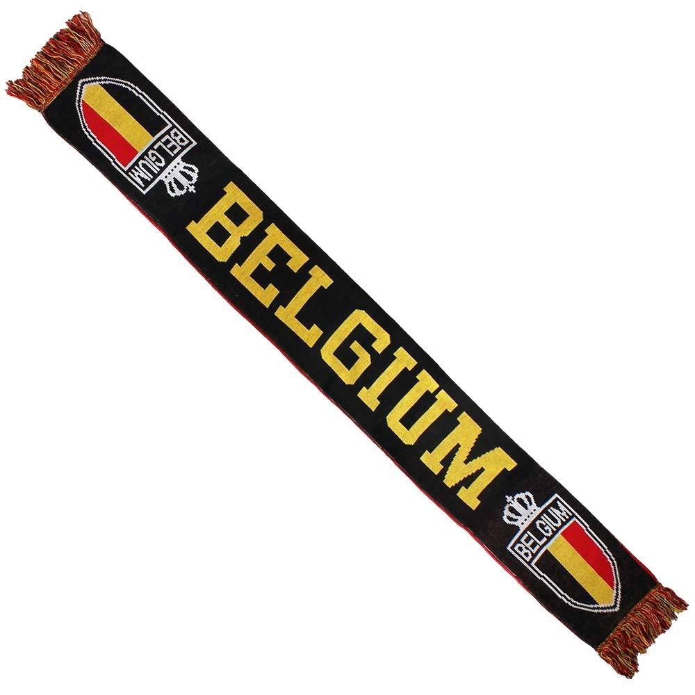 Fun & Fashion Belgium Knitted Scarf Black / Yellow / Red