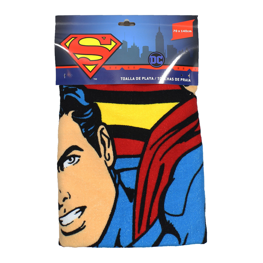 Superman DC Comics Superman Microfiber Badlaken Beach Towel Blauw / Rood / Geel