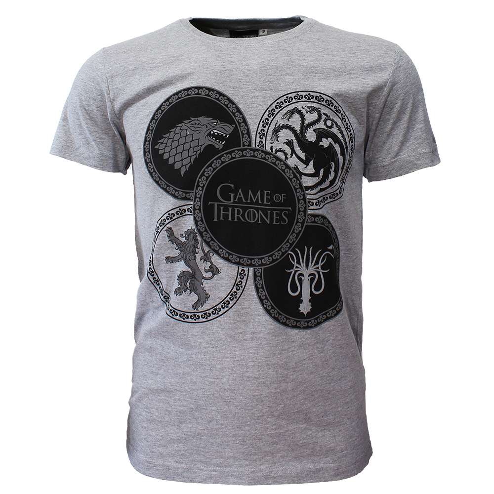 Game of Thrones Game of Thrones House Emblems T-Shirt Grijs