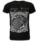 Game of Thrones Game of Thrones House Stark Wolf T-Shirt Zwart