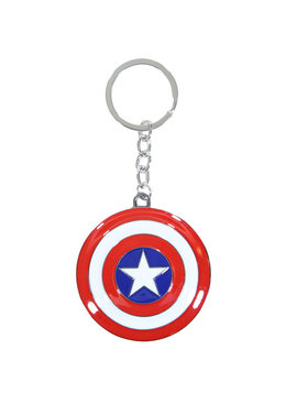 Captain America Marvel Comics Captain America 3D Shield Metal Keychain