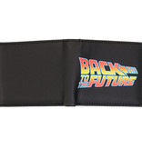 Back To The Future Universal Back To The Future Bifold Wallet Portemonnee Zwart