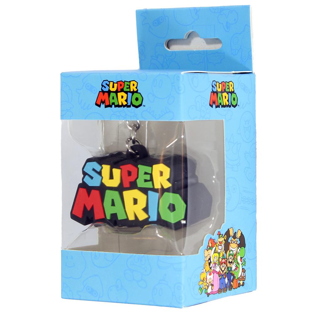 Super Mario Bros Nintendo Super Mario Bros Logo 3D Keychain Sleutelhanger Multicolor