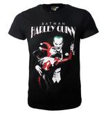 Batman DC Comics Batman Harley Quinn Dancing With The Joker T-Shirt Zwart