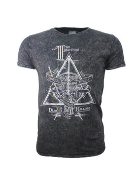 Harry Potter Harry Potter Deathly Hallows T-Shirt Stonewashed
