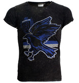 Harry Potter Harry Potter Ravenclaw Stone Washed T-Shirt Zwart