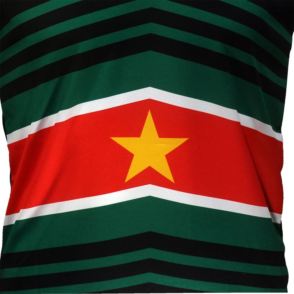 Suriname Suriname Techno Style Voetbal T-Shirt Zwart