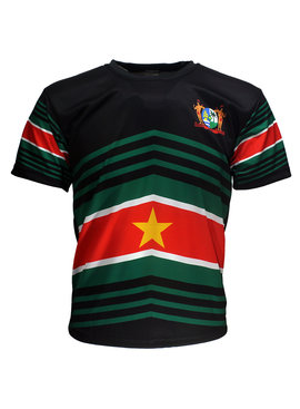 Suriname Surinamese Football T-Shirt Techno Style