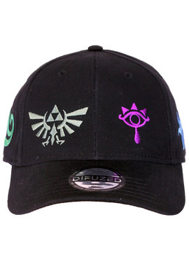 The Legend of Zelda The Legend of Zelda Colored Symbols Verstelbare Cap Pet