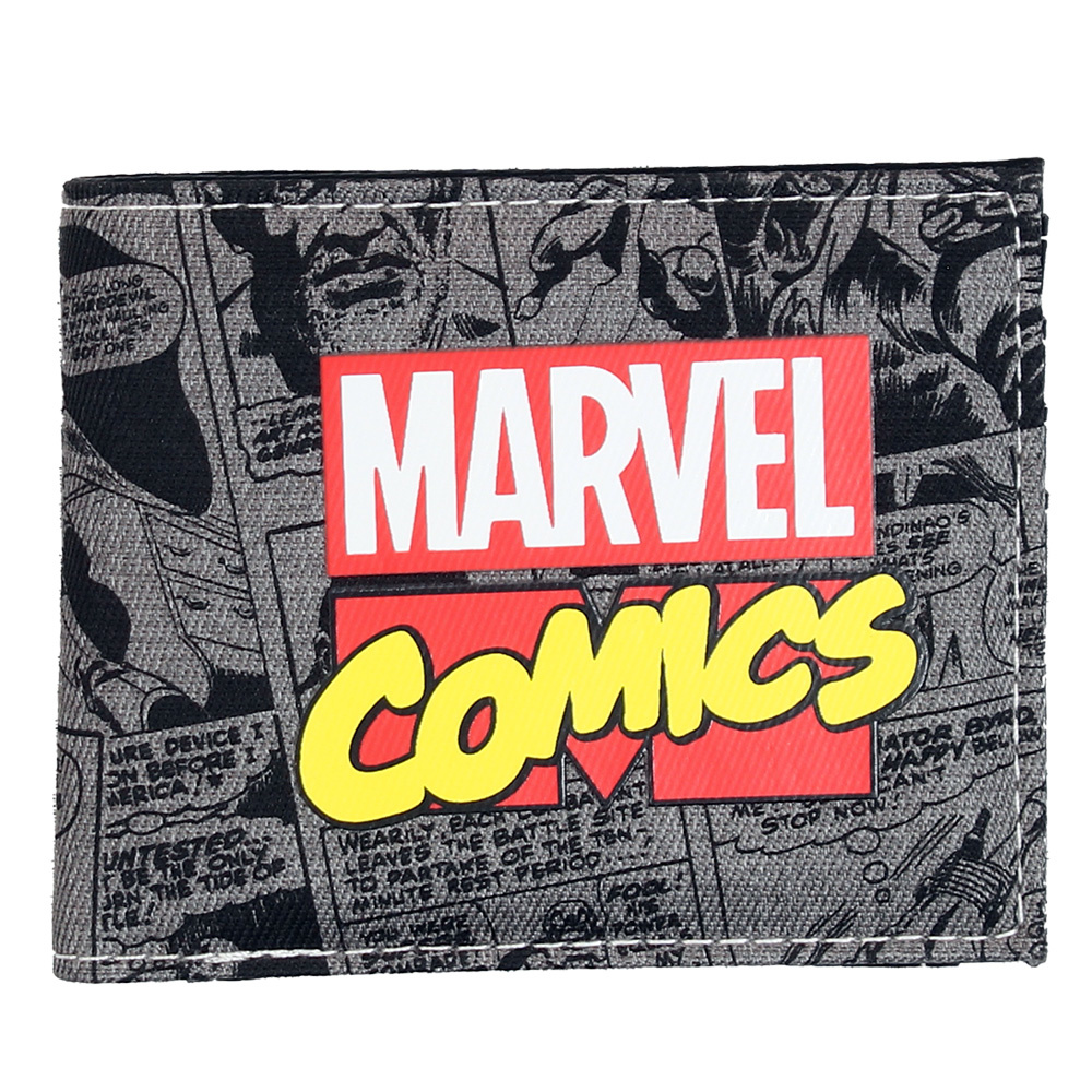 Marvel Comics Marvel Comics All Over Print Bifold Wallet Portemonnee Zwart