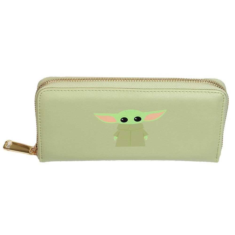 Star Wars Star Wars The Mandalorian Yoda The Child Zipper Wallet Portemonnee Groen
