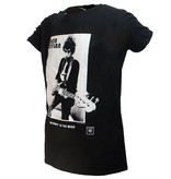 Band Merchandise Bob Dylan Blowing In The Wind Official T-Shirt Black