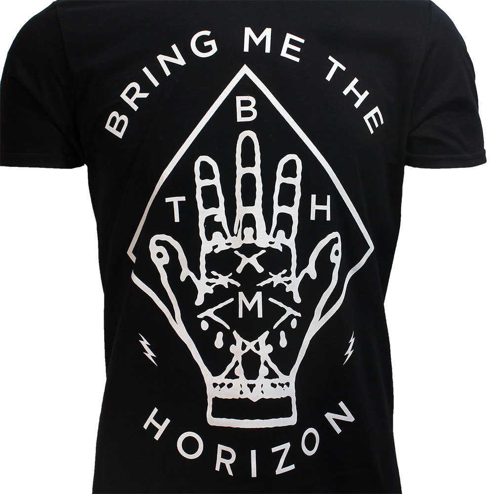 Band Merchandise Bring Me The Horizon Diamond Hand T-Shirt Black