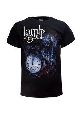 Band Merchandise Lamb Of God Circuitry Skull T-Shirt